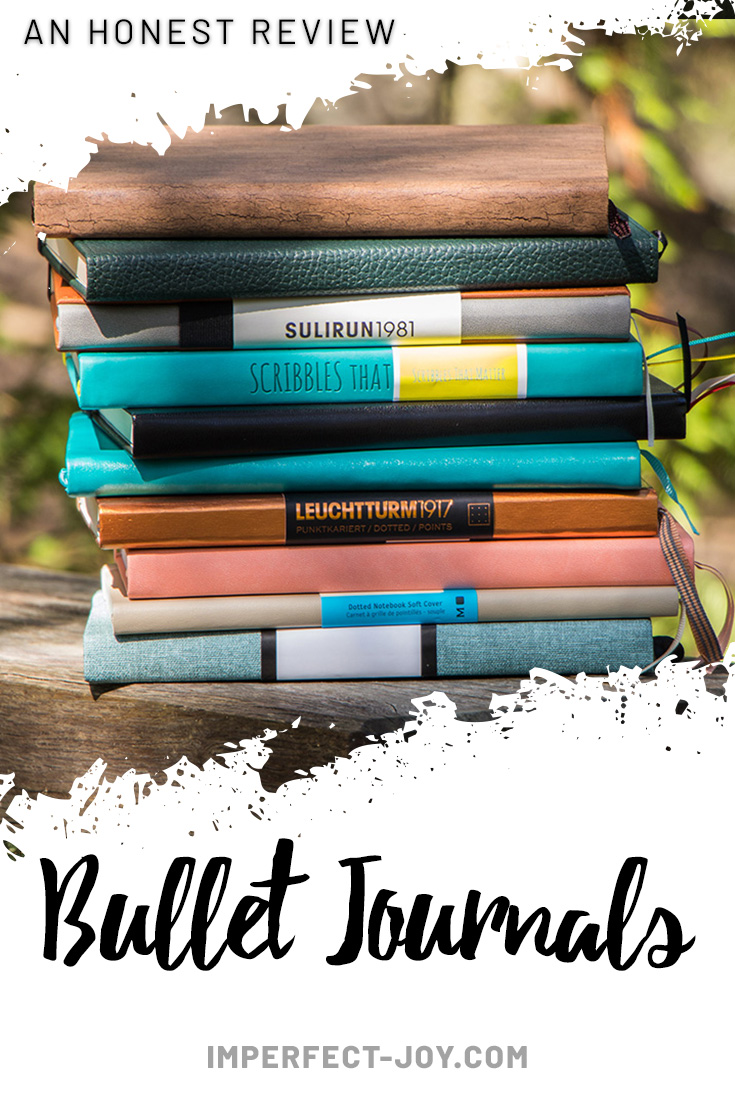 10 Bullet Journals and my honest review. What you should look for in your seach for the best Bullet Journal. Join me on my bujo journey. #bulletjournal #howtostartabulletjournal #bujojourney