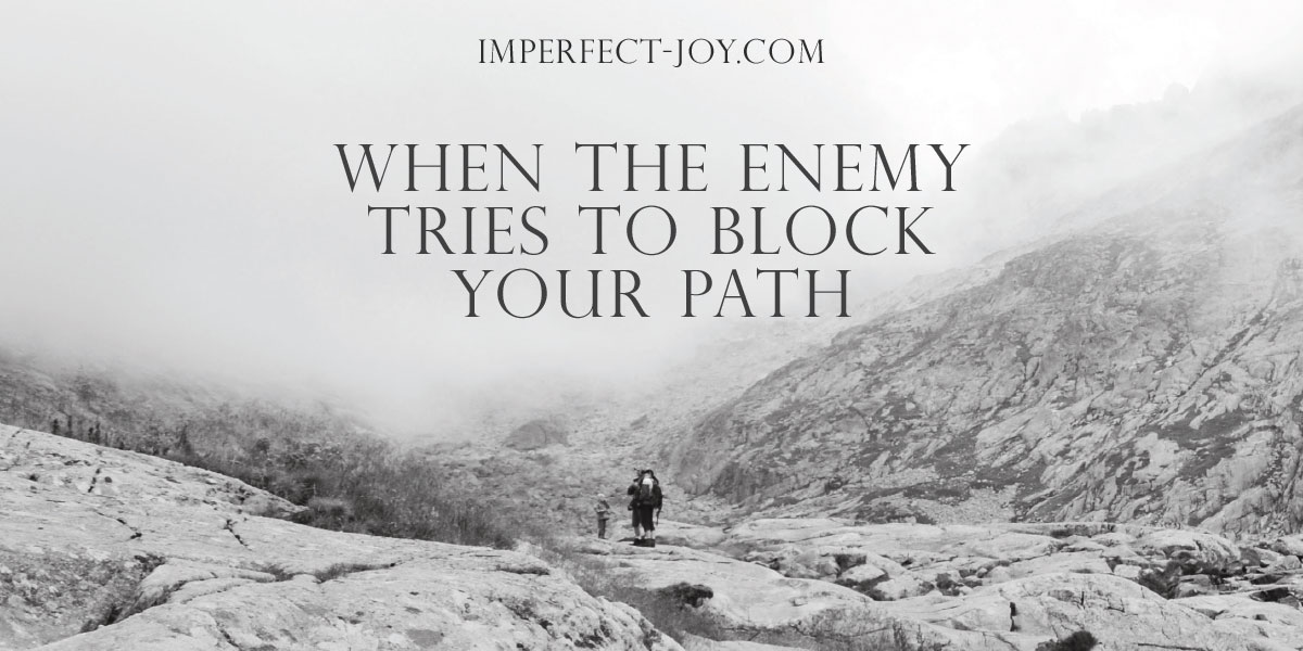 Enemy tries to Block your Path Image
